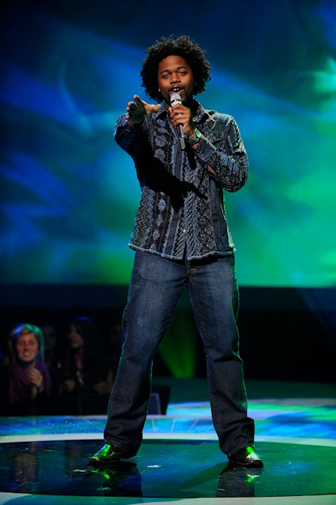 "Stephen Fowler performs ""Rock with You"" by Michael Jackson on ""American Idol."""