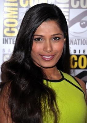Freida Pinto attends 'Immortals' Press Line during Comic-Con 2011 in San Diego, Calif., on July 23, 2011 -- Getty Images