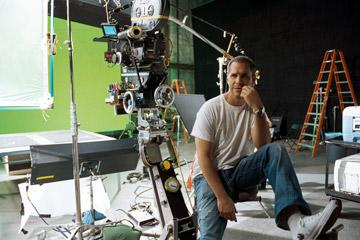 Director Brian Robbins on the set of DreamWorks Pictures' Norbit