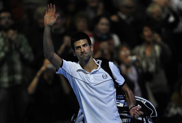 Novak Djokovic, le 25 novembre 2011  Londres, D.Martinez / REUTERS