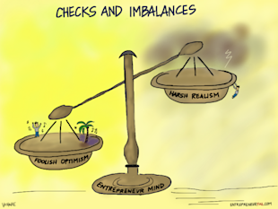 Checks and Imbalances in the Entrepreneurial Mind image entrepreneurfail Checks and Imbalances 600x450