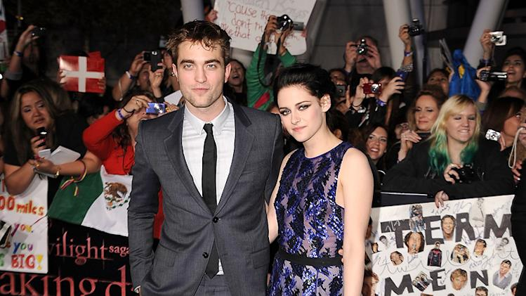 The Twilight Saga Breaking Dawn LA Premiere 2011 Robert Pattinson Kristen Stewart
