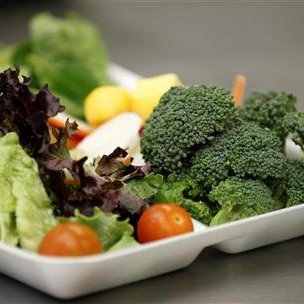 Some of more than 8,000lbs of locally grown broccoli from a partnership between Farm to School and Healthy School Meals is served in a salad to students at Marston Middle School in San Diego