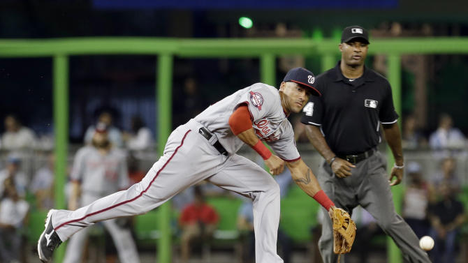 Nationals land Papelbon in trade, fall to Marlins 4-1