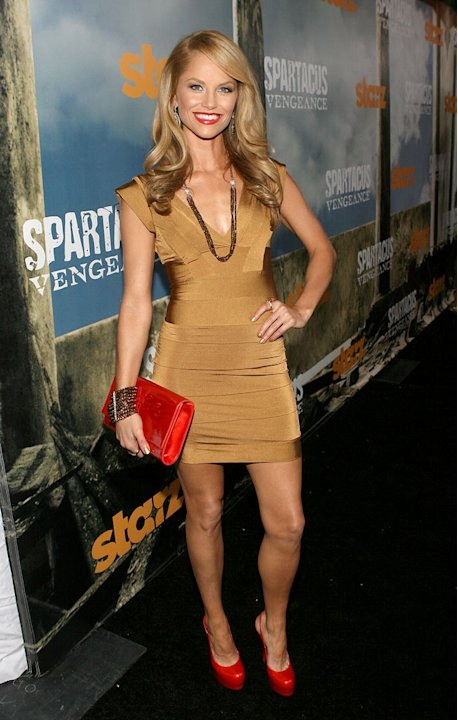 "Ellen Hollman attends the Starz Original Series ""Spartacus: Vengeance"" Premiere Event at ArcLight Cinemas Cinerama Dome on January 18, 2012 in Hollywood, California."