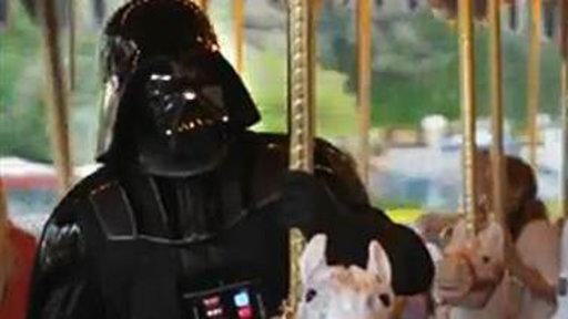The Force Has Fun: Darth Vader Visits Disneyland