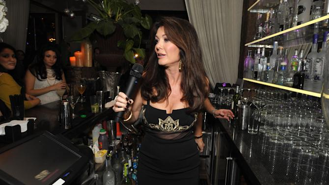 "IMAGE DISTRIBUTED FOR BRAVO - Lisa Vanderpump speaks at the premiere party for ""Vanderpump Rules"" at SUR restaurant, on Monday, Dec. 10, 2012 in Los Angeles. The show premieres on January 7, 2013 on Bravo.  (Photo by John Shearer/Invision for Bravo/ AP Images)"