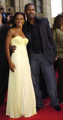 Jada Pinkett Smith and Jamie Foxx at the LA premiere of Dreamworks SKG's Collateral -2004 Photo: