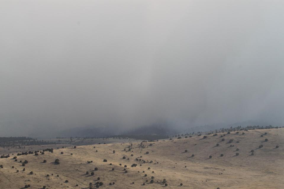 Smoke from the Whitewater-Baldy fire shrouds the Gila forest near Reserve, N.M., on Thursday, May 31, 2012. The blaze has charred more than 190,000 acres to become the largest in New Mexico's recorded history. (AP Photo/Susan Montoya Bryan)
