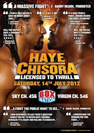 David Haye vs Dereck Chisora live