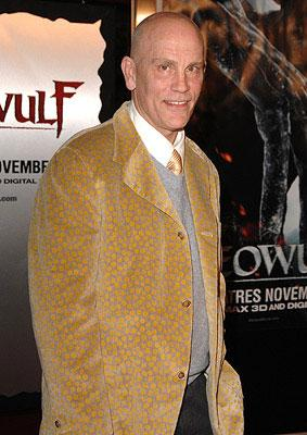 John Malkovich at the Westwood premiere of Paramount Pictures' Beowulf