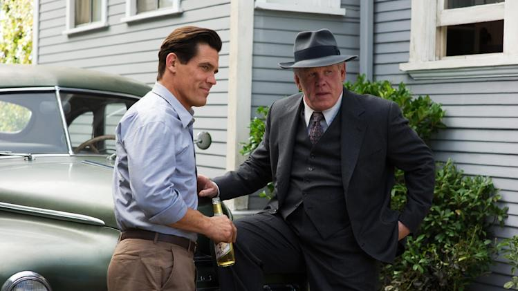 "This film image released by Warner Bros. Pictures shows  Josh Brolin, left, as Sgt. John O'Mara, and Nick Nolte, as Chief Parker in ""Gangster Squad."" (AP Photo/Warner Bros. Pictures, Wilson Webb)"