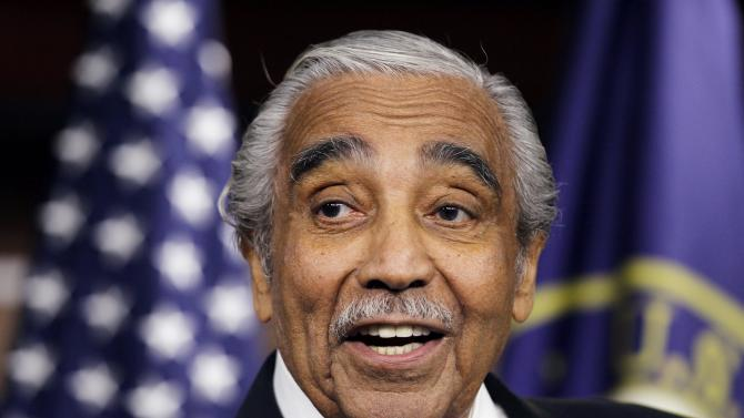 FILE - In this Dec. 2, 2010 file photo, Rep. Charles Rangel, D-N.Y., speaks to the media after he was censured by the House, on Capitol Hill in Washington. Congressman Rangel said Tuesday, March 20, 2012, he'll run for a 22nd term despite his conviction in 2010 on House ethics charges.  (AP Photo/Alex Brandon, File)