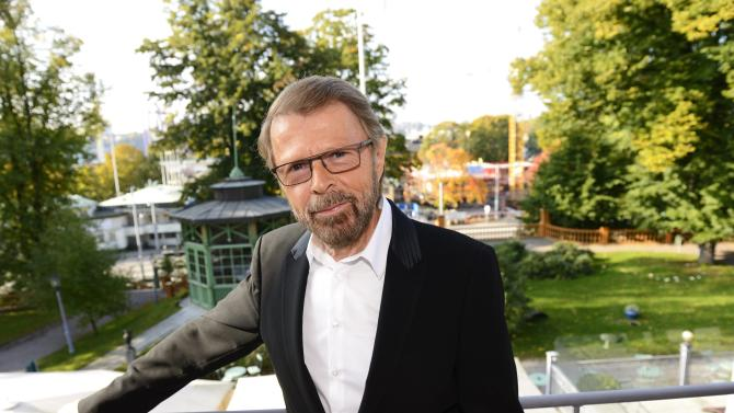"""Former ABBA band member Bjoern Ulvaeus poses for photographers, in front of the ABBA museum construction site in Stockholm., Sweden, Wednesday Oct. 3, 2012. A traveling ABBA exhibit is to get a permanent home in a new museum dedicated mostly to the Swedish quartet that has sold nearly 400 million records since its heyday in the 1970s. Former band member Bjoern Ulvaeus said Wednesday that """"ABBA The Museum"""" will be part of a Swedish music hall of fame to be inaugurated in Stockholm next spring. (AP Photo/Henrik Montgomery) SWEDEN OUT"""