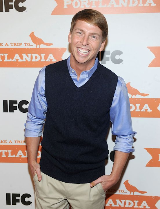 "Jack McBrayer attends the ""Portlandia"" Season 2 premiere screening at the American Museum of Natural History on January 5, 2012 in New York City."