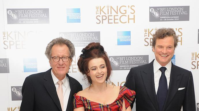 54th BFI London Film Festival 2010 The Kings Speech Geoffrey Rush Helena Bonham Carter Colin Firth