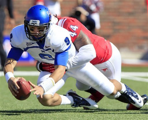 SMU coasts past Memphis 44-13