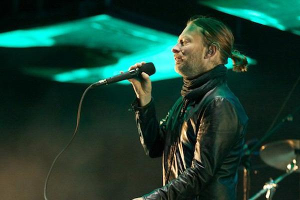 Radiohead's Thom Yorke (and his ponytail)