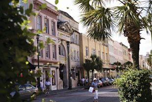 King Street in Charleston's historic district. (Courtesy of the Charleston Tourism Board)