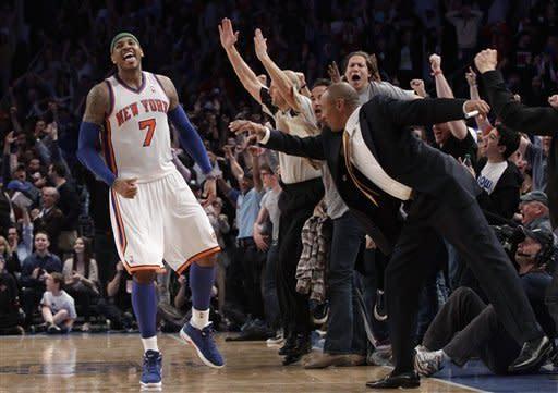 Anthony has 43, Knicks top Bulls in Rose's return