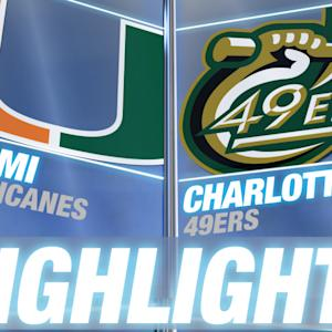 Miami vs Charlotte | 2014-15 ACC Men's Basketball Highlights