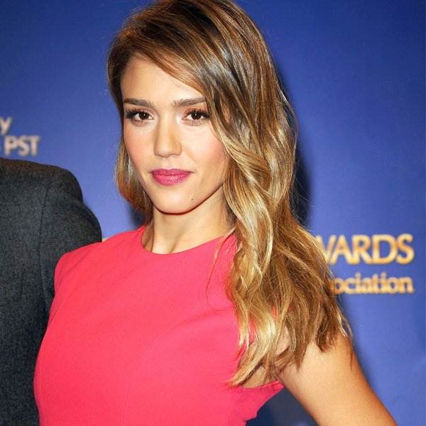 Top 10 celebrity hairstyles 2013 jessica alba dip dye JPG 134534 2013 Hairstyles With Glasses