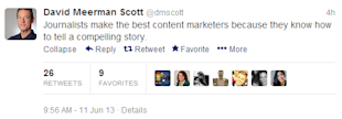 How A Brand Journalist Can Help Perfect Your Brand's Content Marketing Strategy image david meerman scott tweet