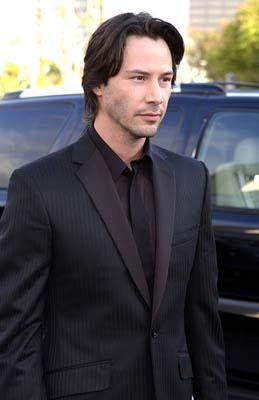 Now show us angry! Keanu Reeves at the Hollywood premiere of Warner Brothers' The Matrix: Reloaded