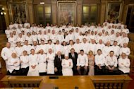 Top chefs from around the world pay tribute to Paul Bocuse at Diner des Grands Chefs in Lyon, France