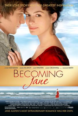 Anne Hathaway and James McAvoy star in Miramax Films' Becoming Jane