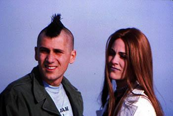 Michael Goorjian and Annabeth Gish in SLC Punk!