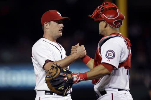 Zimmermann wins 19th as Nationals beat Marlins 8-0