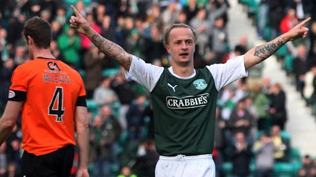 Leigh Griffiths hobbled off with an ankle injury in the Edinburgh derby on Sunday