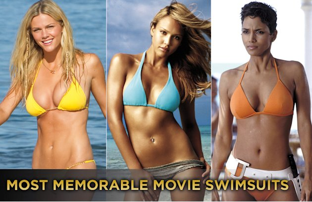 most memorable movie swimsuits titlecard