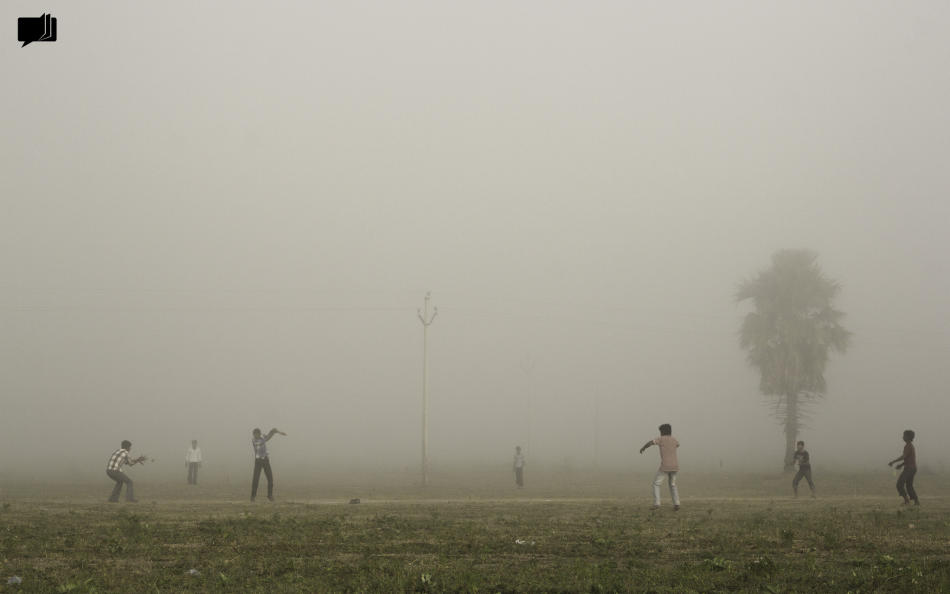 Nothing stops us from playing, not even fog. By Manohar Kudidala