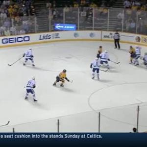 Eddie Lack Save on Mattias Ekholm (10:15/1st)