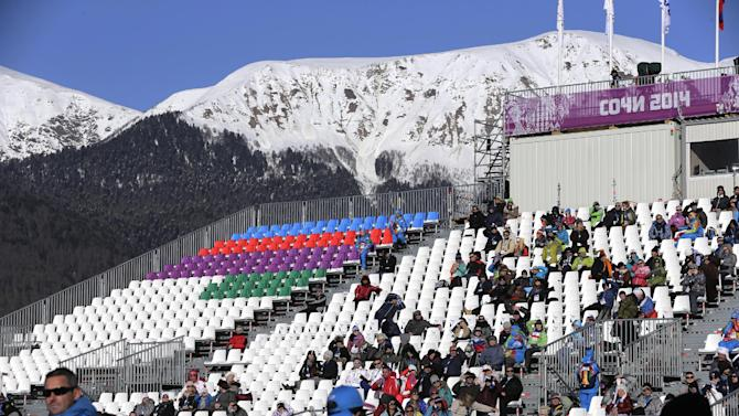 Slopestyle's Olympic debut met with empty seats