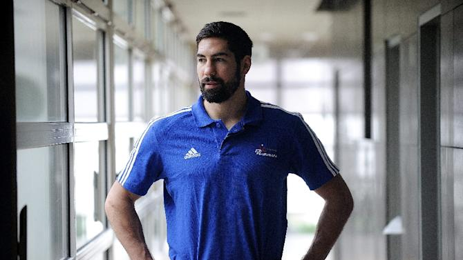 French international handball player Nikola Karabatic poses in Pornic, western France, ahead of a training session on January 5, 2015