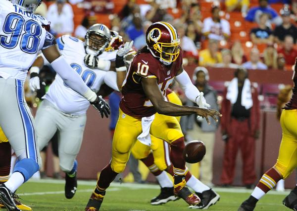 RG3 on Lions game: 'We just had a bad outing'