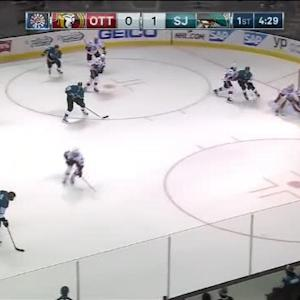 Andrew Hammond Save on Brent Burns (15:33/1st)