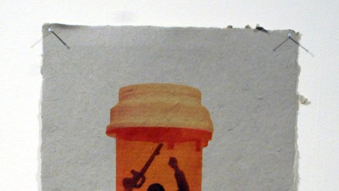 "ADVANCE FOR USE SUNDAY, NOV. 11, 2012 AND THEREAFTER - This undated image provided by the National Veterans Art Museum shows ""Army Man In A Bottle II"" by Malachi Muncy. He was just 18 when he first deployed, and once in the combat zone, Muncy says he began taking sleeping pills to shut out the world. The constant dangers he faced on truck-driving convoys were overwhelming. ""So much bad stuff happened,"" he recalls. ""Watching IEDs explode, and mortars hit. Being pinned down on bridges, you wonder where the fire is coming from. You just sit and wait to get shot at and you have no control over whether you're going to live or die ... I was having nightmares. I really felt I was going to do stupid things and hurt the wrong people. I was having thoughts I couldn't expel."" (AP Photo/National Veterans Art Museum, Malachi Muncy)"