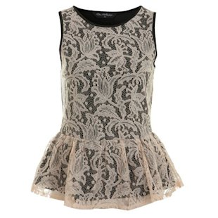 Miss Selfridge: Lace Peplum Top: A/W 2012: Gothic: Fashion Trend: Fashion