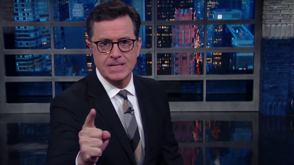 Stephen Colbert takes on the horror of Trump's mass-texting capabilities