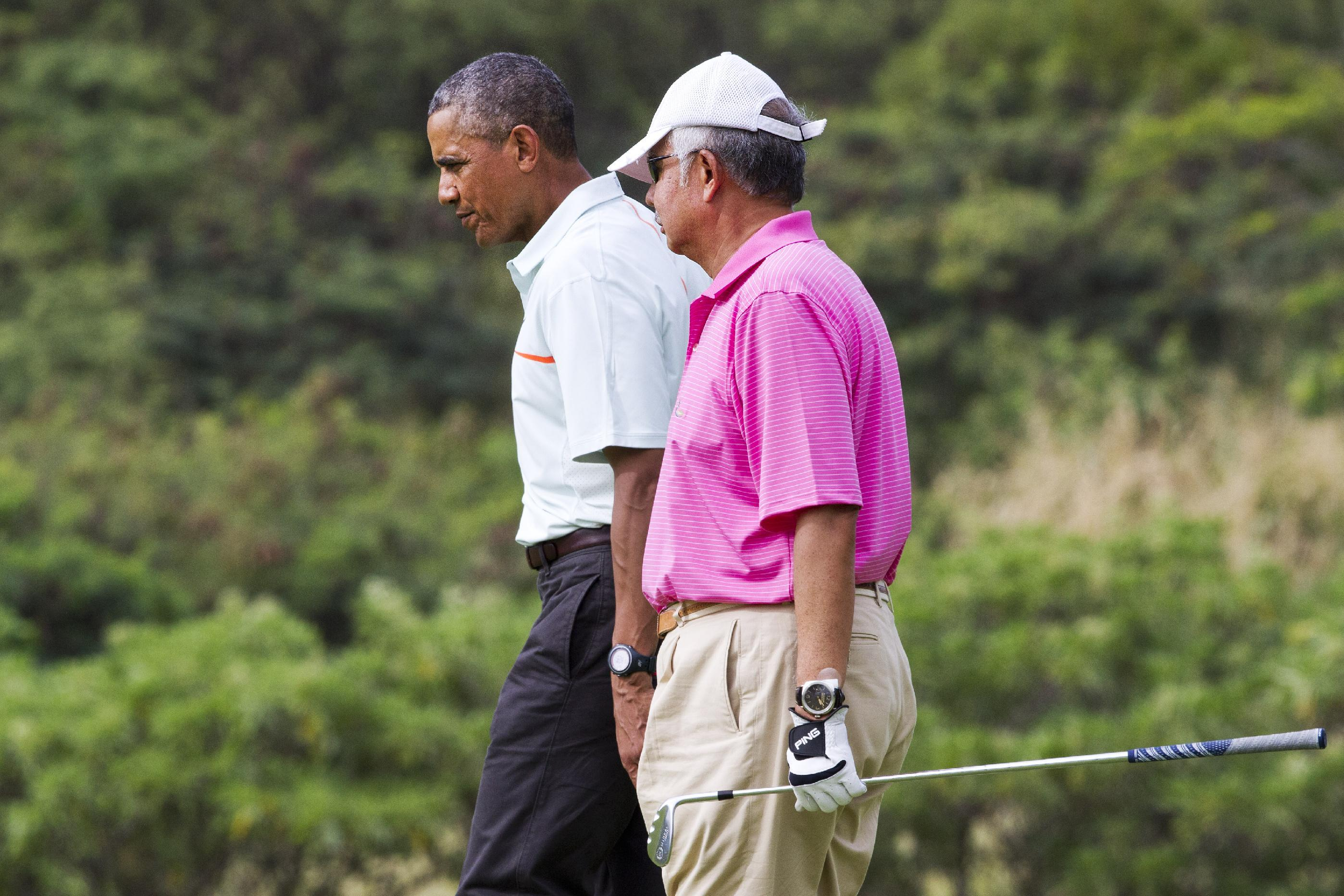 Obama tees off in Hawaii with Malaysian leader