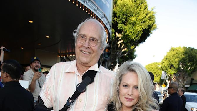 "Chevy Chase and Beverly D'Angelo seen at the New Line Cinema presents the Premiere of ""Vacation"" held at Regency Village Theatre on Monday, July 27, 2015, in Westwood, Calif. (Photo by Eric Charbonneau/Invision for Warner Bros./AP Images)"