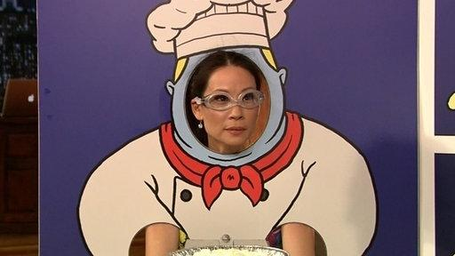 Lucy Liu Gets a Pie in the Face