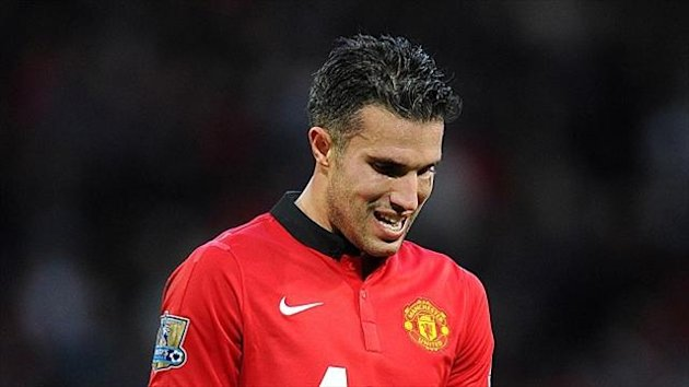 Robin van Persie missed a penalty for United