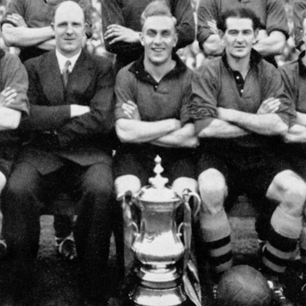 1= - Billy Wright - 90 caps as captain - Pictured with Wolves (centre) 1949