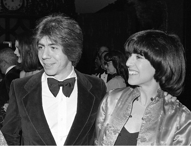 FILE - This Feb. 22, 1978 file photo shows screenwriter Nora Ephron, right, with her husband journalist and author Carl Bernstein in New York. Oscar-nominated filmmaker and author Nora Ephron is very