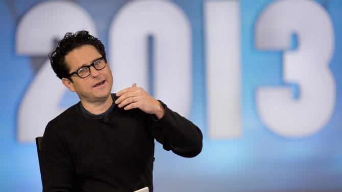 "Producer and director J.J. Abrams, speaks during a keynote discussion with Valve president and co-founder Gabe Newell (not pictured) at the D.I.C.E. Summit, Wednesday, Feb. 6, 2013, in Las Vegas. Abrams, a longtime darling of the science fiction crowd, discussed his vision for a new ""Star Wars"" film and possible spinoff video games. (AP Photo/Julie Jacobson)"